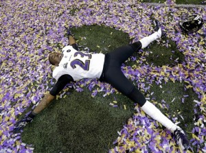 Super Bowl XLVII Confetti Angel