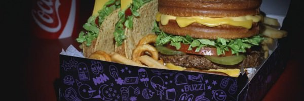 Jack's Munchie Meal - Stacked Grilled Cheese Burger