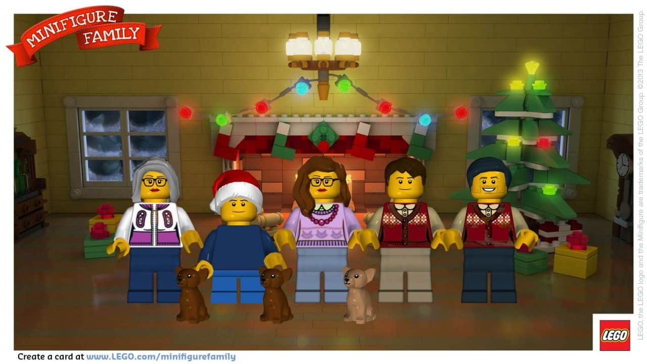 LEGO holiday card