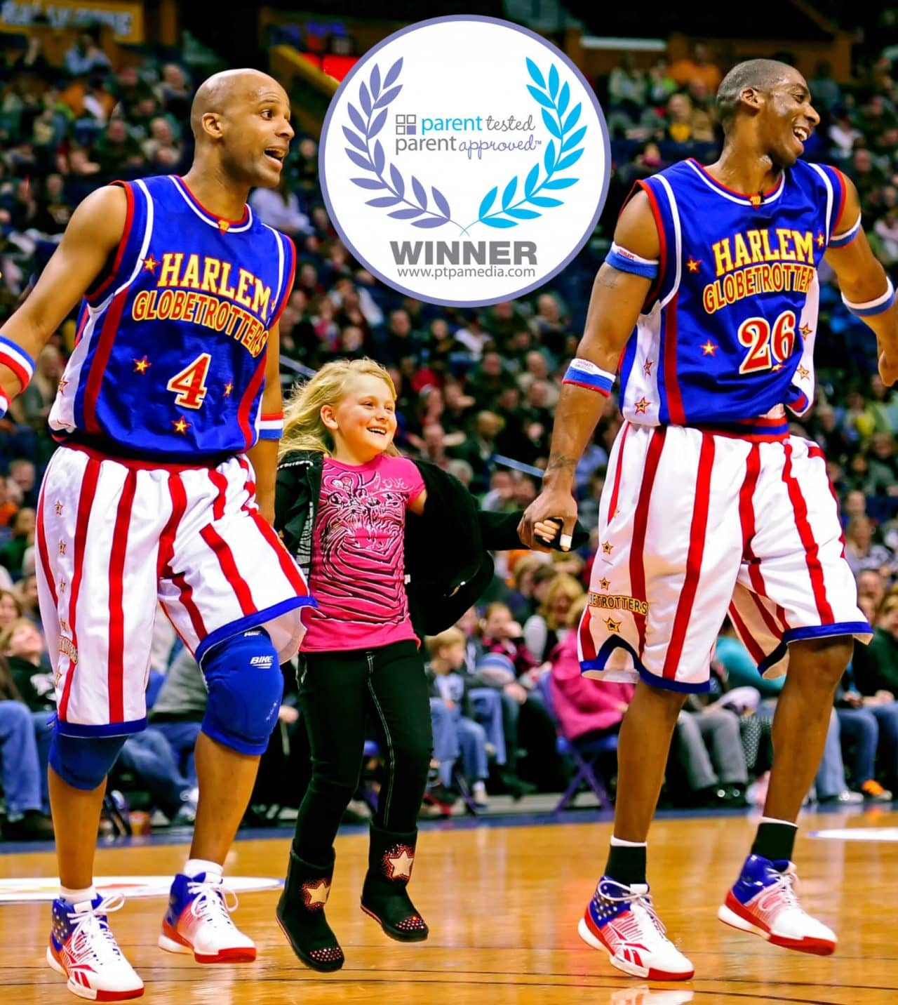 Harlem Globetrotters with Flight Time (left) and Hi-Lite
