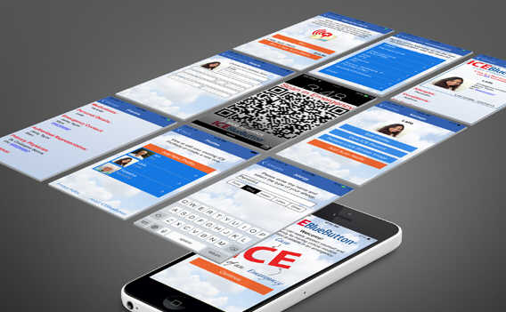 ICEBlueButton App