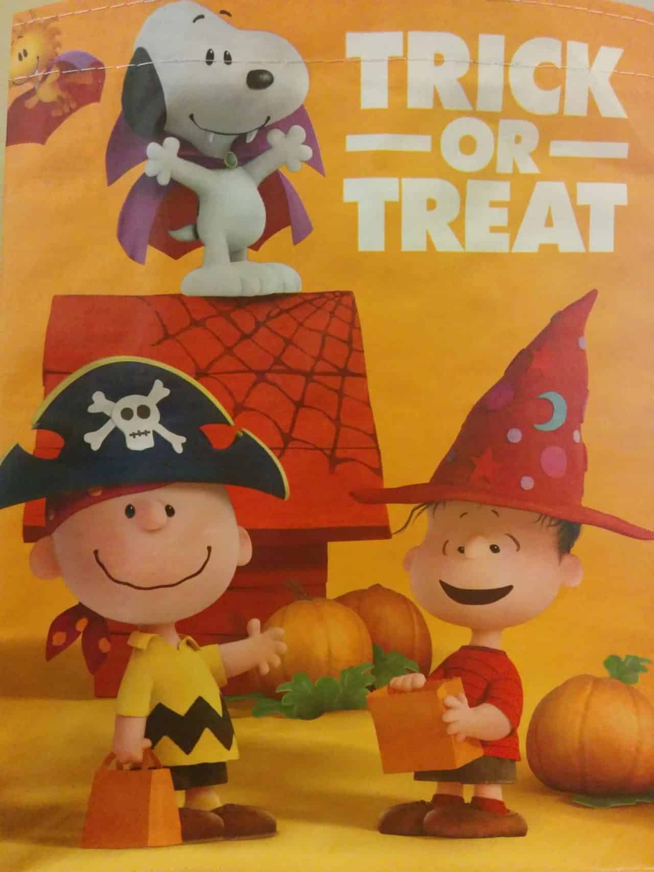 Peanuts Movie Trick or Treat Bag