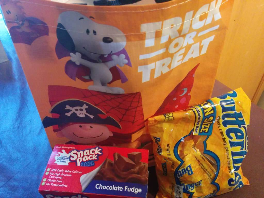 Peanuts Movie Trick or Treat Bag