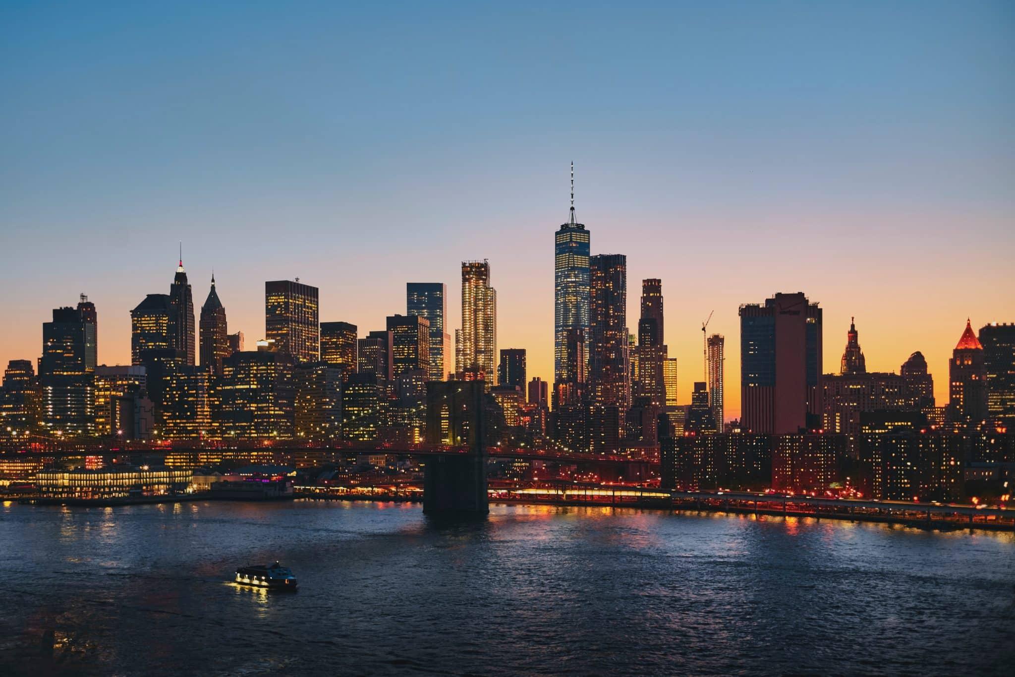 Manhattan in the distance